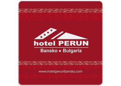 подложка за чаша в хотел Perun