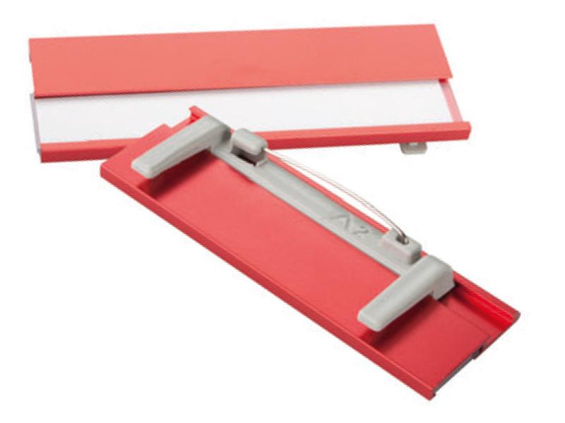 червен метален бадж с игла подходящ за ситопечат и гравиране