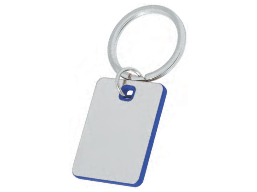 сребърен метален ключодържател