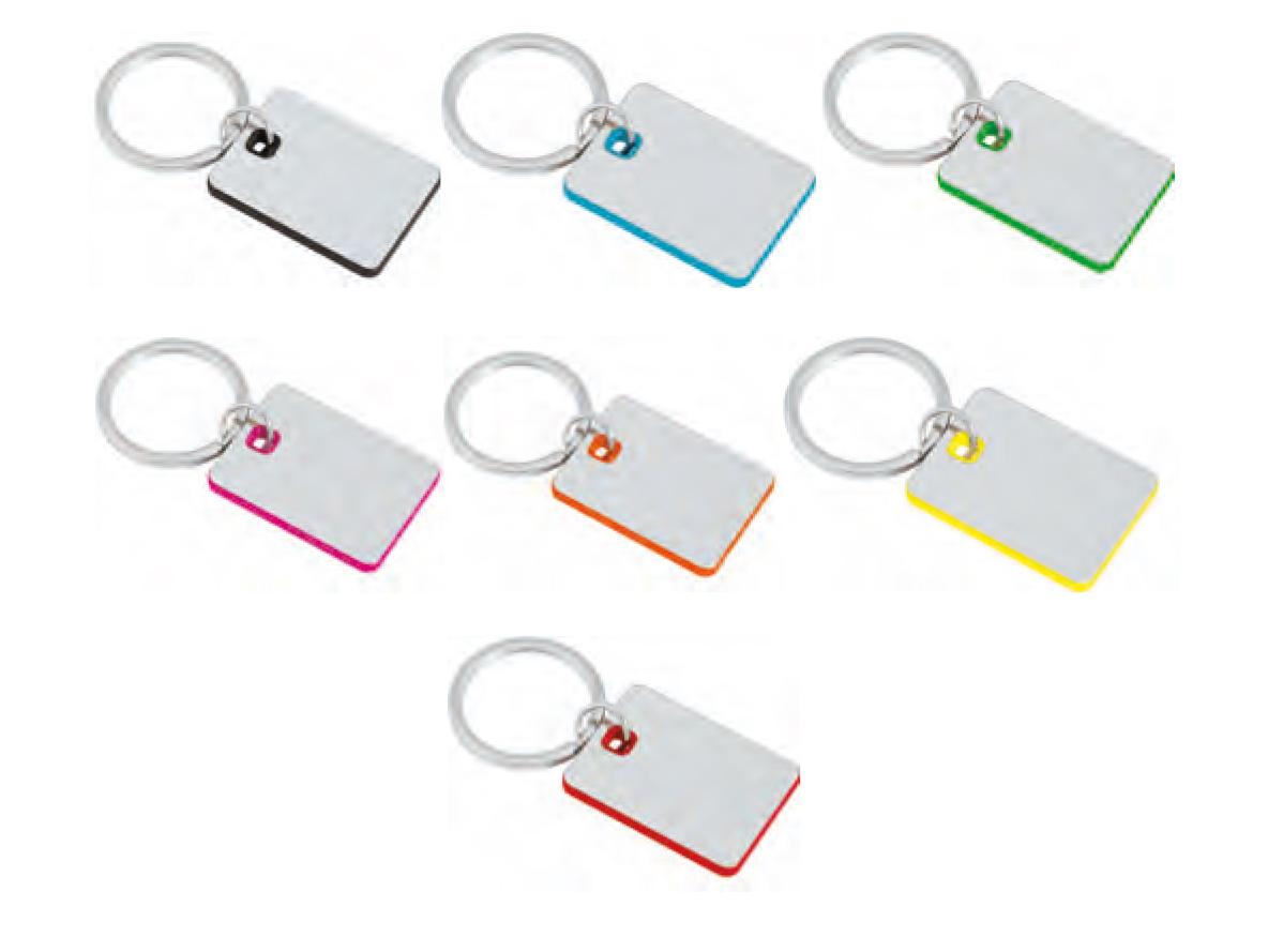 метални ключодържатели сребърно тяло и цветни контури