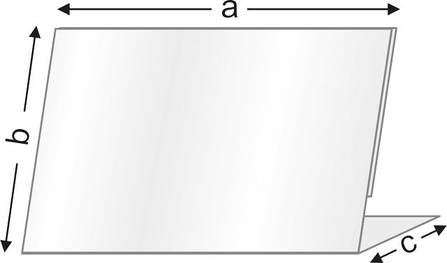 Чертеж на стойка за етикет тип LL