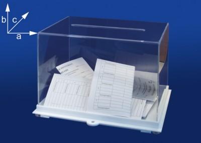 Прозрачна кутия, тип урна, BX