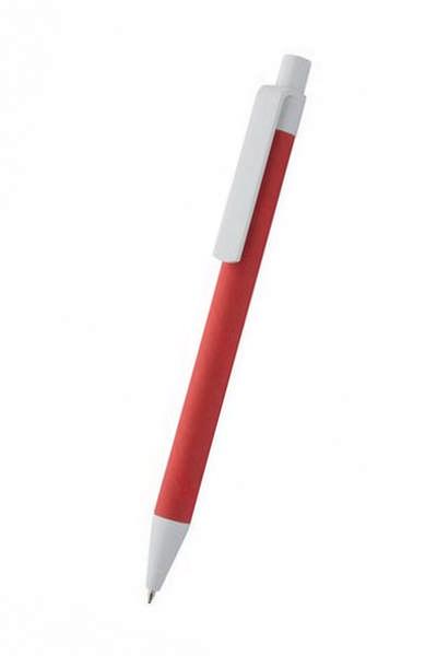 рекламна екохимихалка червена с бял клипс