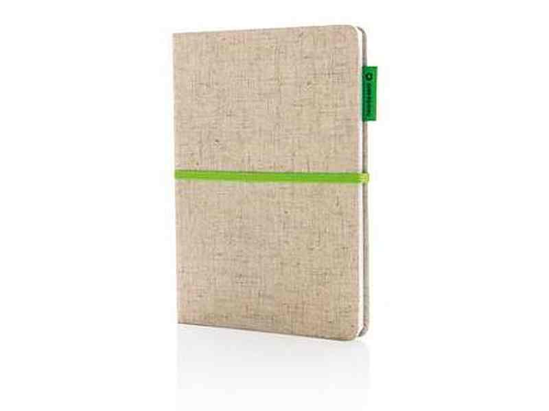 Еко бележник с юта памучна корица корица.