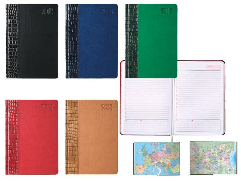 бележници без дати, лукс корица от два цвята, заоблени ъгли на тялото и корицата
