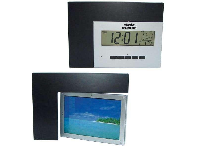 настолен часовник с рамка за снимка и място за реклама