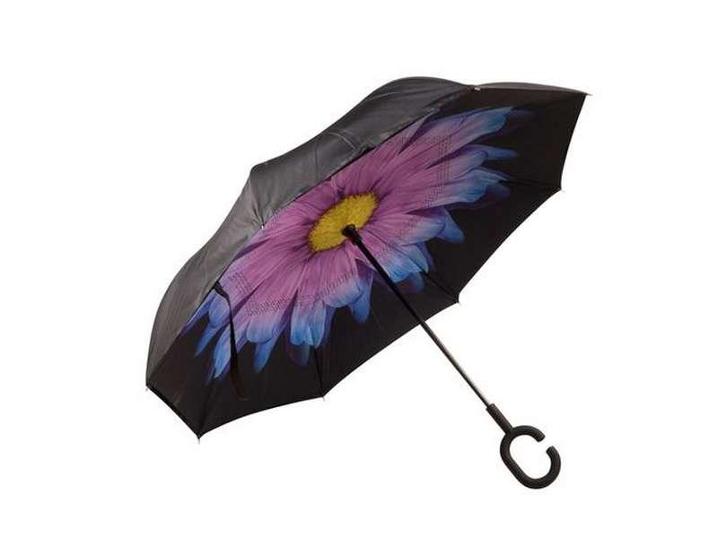 Стоящ автоматичен чадър с двойна понджи подплата