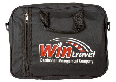 рекламна чанта с двуцветен печат Win Travel