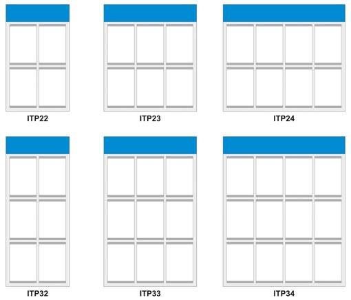 схема с модели за стандартни информационни табла от Импрес