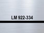 плоскост за гравиране сребро/черно