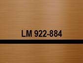материал за гравиране - тъмен бронз/черно