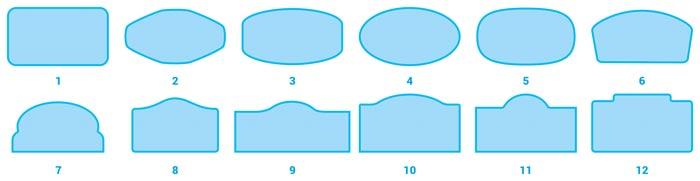 стандартни форми за бадж