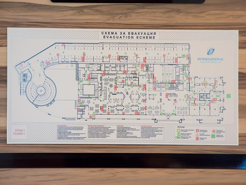 табела със схема за евакуация