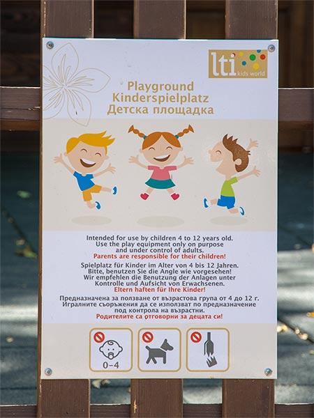табела за детска площадка