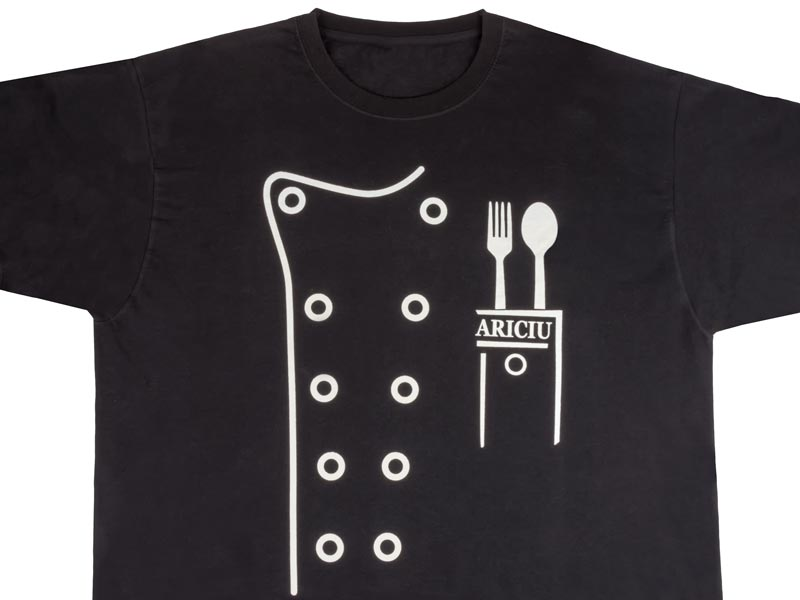 ситопечат на тениска за мастер шеф ARICIU