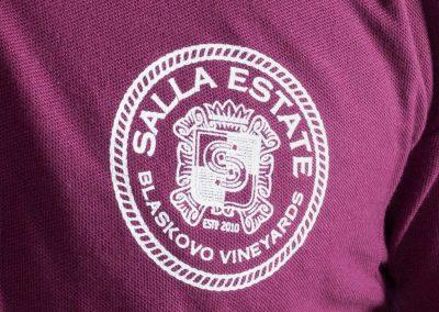 ситопечат върху пике, лого на SALLA ESTATE