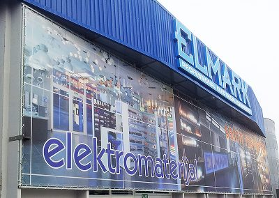 рекламно пано на фасада на ELMARK