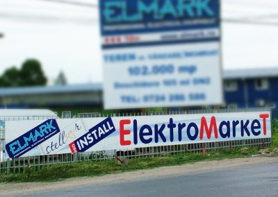 транспарант Еlektromarket, Bucharest