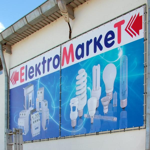 рекламно пано от винил ElektroMarket