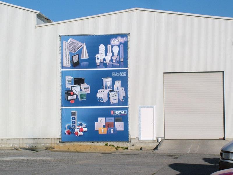 рекламен винил за завод на ELMARK