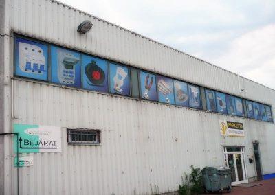 брандирани прозорци на магазин и склад