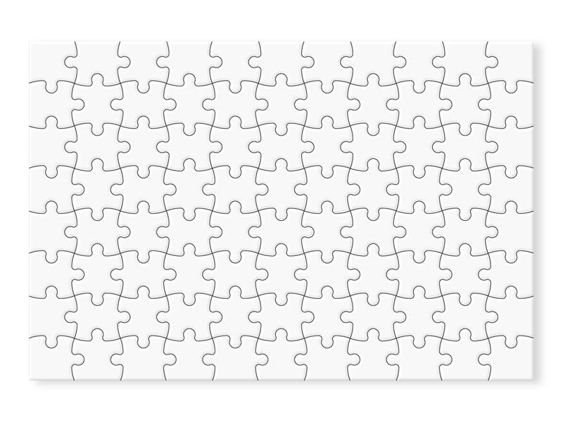 разположение и форма на 88 парчетата от пъзел PUZ9651 без печат