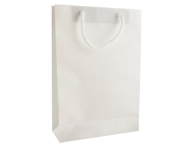 бяла хартиена торбичка
