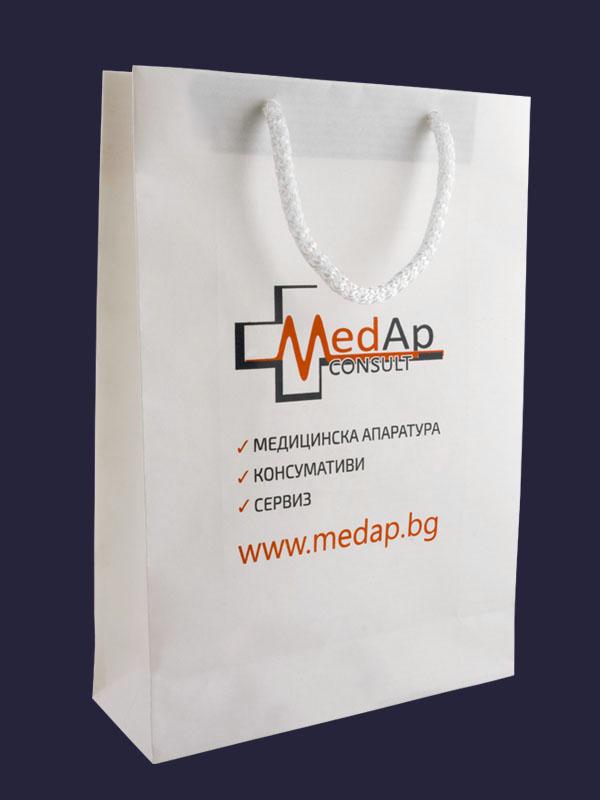 Хартиени торбички със ситопечат 2 цвята MedAp