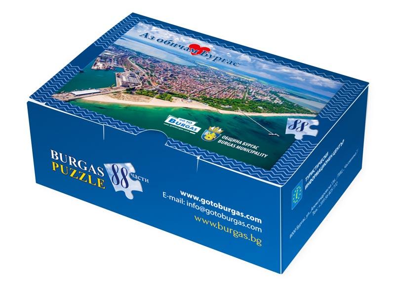 опаковачна картонена кутия за пъзели със снимка