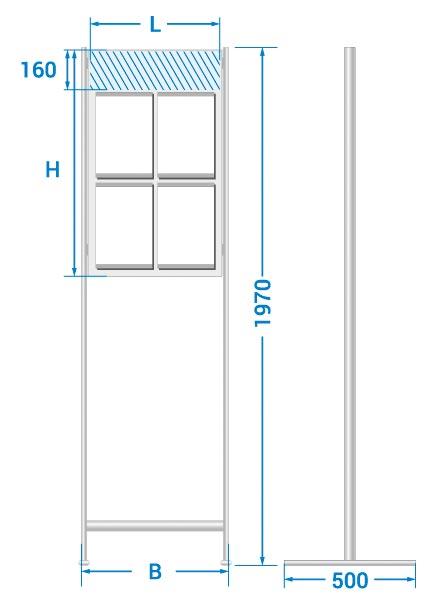 схема на табло с джобове с поставка за земя
