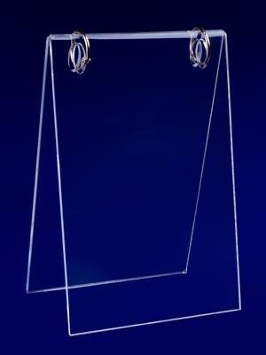 плексигласова поставка за вертикални листи с 2 ринга
