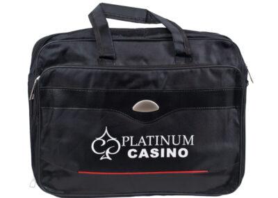 рекламна чанта с надпис Platinum casino