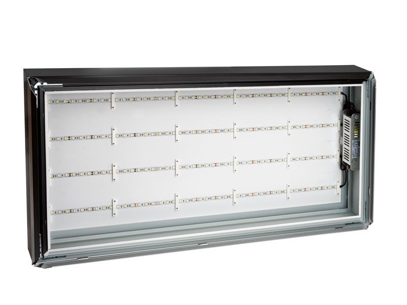 светеща табела - кутия с прозрачен капак